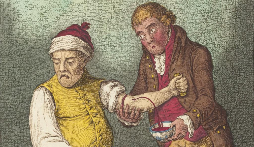 Breathing a vein' (bloodletting) by James Gillray, 1804 | Sydney ...